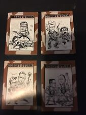 Crown Sports Cards THE DESERT STORM Card Collection Set 1991 GEORGE BUSH NM