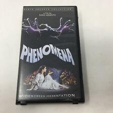 PHENOMENA VHS Dario Argento Jennifer Connelly Horror Movie Anchor Bay Clamshell