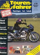 TF9205 + Test MOTO GUZZI 1000 Quota + KAWASAKI Zephyr 1100 + Tourenfahrer 5/1992