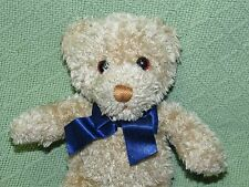 "GUND Braun ThermoScan Teddy Bear Advertising 9"" Tan Plush Stuffed Blue Bow Lovey"