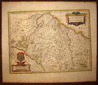 Card Geographic Antique Bituricum Ducatus or Duchy of Berry per Jansson 1640
