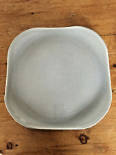 Russell Wright Granite Gray Steubenville American Modern Square Chop Plate MINT
