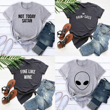 Women Men Short Sleeve T-Shirts Sassy Princess Shirt Tumblr Tee Tops S M L XL