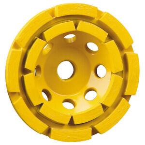 DeWALT 125MM Double Row Diamond Cup Stone M14 Grinding Wheel - DT3796-QZ