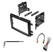 Double Din Dash Kit For Aftermarket Stereo Radio Install w/ Wire Harness Antenna