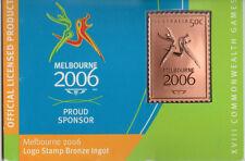 AUSTRALIA 2006 -BRONZE STAMP INGOT -MELBOURNE COMMONWEALTH GAMES
