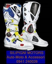 Sidi Crossfire 2 SRS Fuoristrada MX Cross Stivali Moto Uomo Giallo Fluo 43