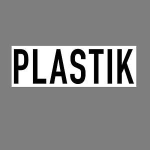 Pegatina Plástico 20cm Advertencia Basura Separación din Iso Cubo Contenedor