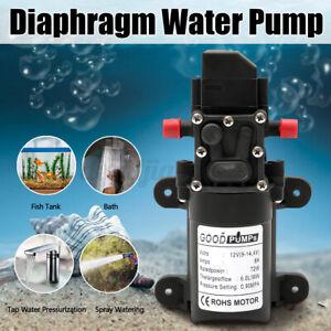 12V 6L/Min High Pressure Diaphragm Self Priming Water Pump Caravan