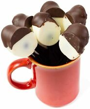 Hand Made in USA Orange Brandy Chocolate Dipped Spoons – Stir in Coffee (6 Co...