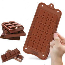 Square Chocolate Mould Bar Block Ice Cake Candy Sugar Bake Mold coffee soap tray