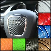 AUDI Steering Wheel Carbon Fiber Decal Sticker Cover Overlay A3 A4 A5 A6 S Line