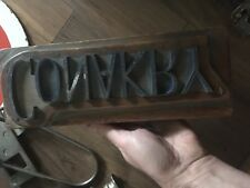 Ancien Grand tampon encreur / Matrice Imprimerie Typo / Conakry / vintage