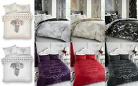 Ebony, Goodnight, Marble Printed Polycotton Duvet Cover Sets In All Sizes