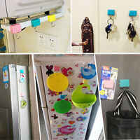 Magnetic Chuck Self Adhesive Towel Door Coat Wall Hanger Sticky Holder Hooks
