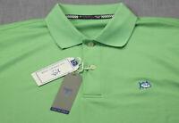 Southern Tide Men Green Glass Skipjack Performance SS Pique Polo Shirt NWT M $80