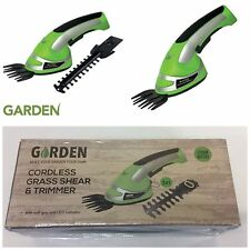 NO STOCK Garden Cordless 2 in 1 Grass Lawn Shear Bush Hedge Hand Trimmer