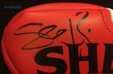 Signed Travis Cloke Western Bulldogs Auto on Red Soft Touch Sherrin Football