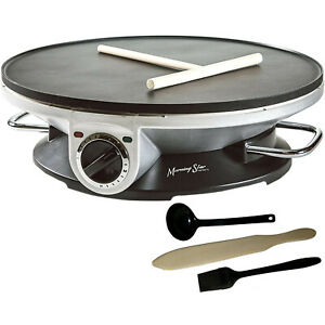 "Crepe Maker Pro - 13"" Crepe Maker & Electric Griddle - Non-stick Pancake Maker"