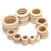 1Bag Natural Wood Circles Beads Wooden Ring DIY Jewelry Making Crafts DIY TWUK
