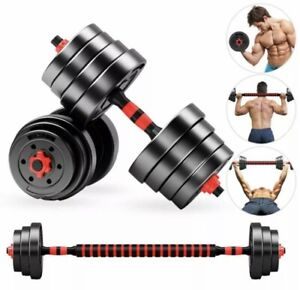 30KG DUMBBELL WEIGHTS SET HOME GYM BARBELL WEIGHT LIFTING DUMBELLS PAIR NEW KIT