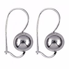 NEW Genuine 925 Sterling Silver 10 mm Classic Euro Ball Ladies Earrings Fabulous