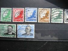 Germany:1934 Airmail selection to 3 marks, used