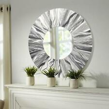 Handmade Round Modern Metal Wall Art Contemporary Mirror Accent by Jon Allen
