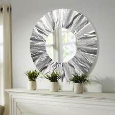 Handmade Round Modern Metal Wall Art Contemporary Mirror Accent by Jon Allen