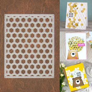 Hexagon Honeycomb Background Grid Cutting & Embossing Die – Geometric Bees