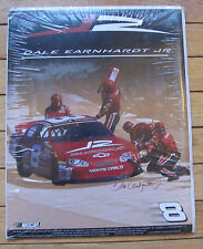 "NIP Dale Earnhardt Jr #8 NASCAR Racecar © 2003 The Time Factory 11 x 14"" Poster"