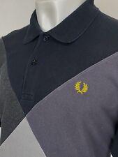 Fred Perry   Bold Argyle Print Panel Polo Shirt XXL (Grey) Mod 90's Casuals Ska
