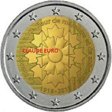 2 EURO UNC 2018 FRANCE  100 ème ANNIVERSAIRE 1918 2018 les bleuets