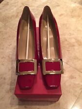 Roger Vivier Red Patent Leather Pumps 41.5
