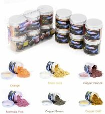 GraVity Powdered Pigments Natural 0.7oz Mica Pigment Powder for Diy Crafts 6 Jar