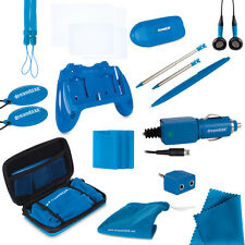 New Blue dreamGEAR Nintendo 3DS  20 in 1 Essentials Starter Kit Case Stylus ++