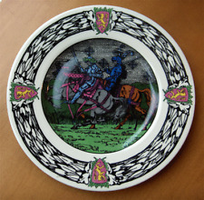 Royal Doulton King Arthur and Knights of the Round Table vintage plate-NR