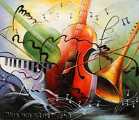 Modern Handpainted Music Abstract Oil Painting On Canvas Wall Art Home Decor