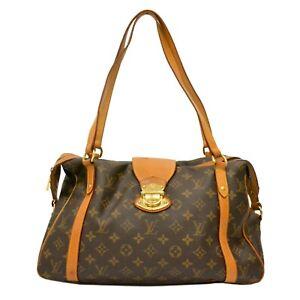Louis Vuitton Stresa PM M51186 Monogram Shoulder Tote Satchel Hand Bag Purse LV