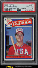 1985 Topps Mark McGwire ROOKIE RC #401 PSA 8 NM-MT (PWCC)