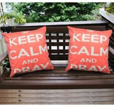 16 x 16 Inches Decorative Square Throw Pillow Case (Keep Calm And Pray) Set of 2