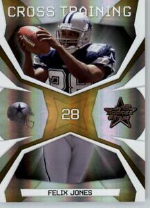 2008 Leaf Rookies & Stars Cross Training Gold /500 #CT-14 Felix Jones - Cowboys