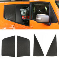 Carbon Front+Rear Triangular Window Glass Plate Trim For Renegade 2016-2019