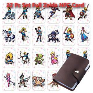 22 Full Set NFC PVC Tag Spielkarte LINK ZELDA ATEM DES WILDEN WOLFS Für Switch