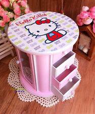 Brand New Cute Pink Hello Kitty Music Jewelry Box Storage Box Birthday Gift
