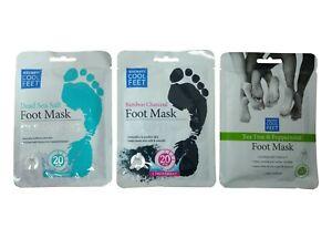 Escenti Cool Feet Foot Mask Sock Feet Treatment Mask Moisturising Soothing