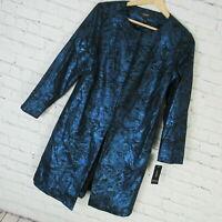Alfani Jacket Womens Small Metallic Blue MSRP $130
