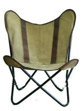 Country-Side Chair Iron Stand With Leather Cover for Indoor Outdoor