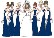 Bridal Thank You cards wedding navy blue 6