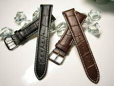 22mm 21mm 20mm 19mm 18mm Genuine Leather Band Strap compatible with LONGINES